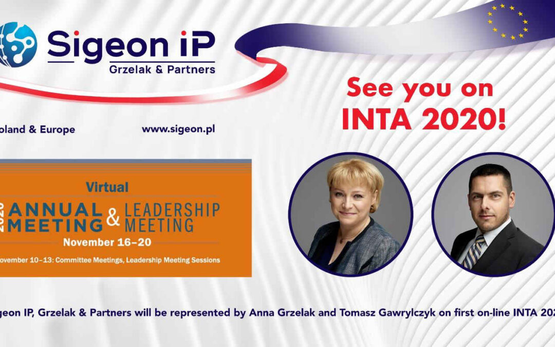 Sigeon IP na konferencji INTA 2020