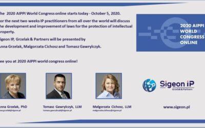 Sigeon IP na konferencji AIPPI 2020
