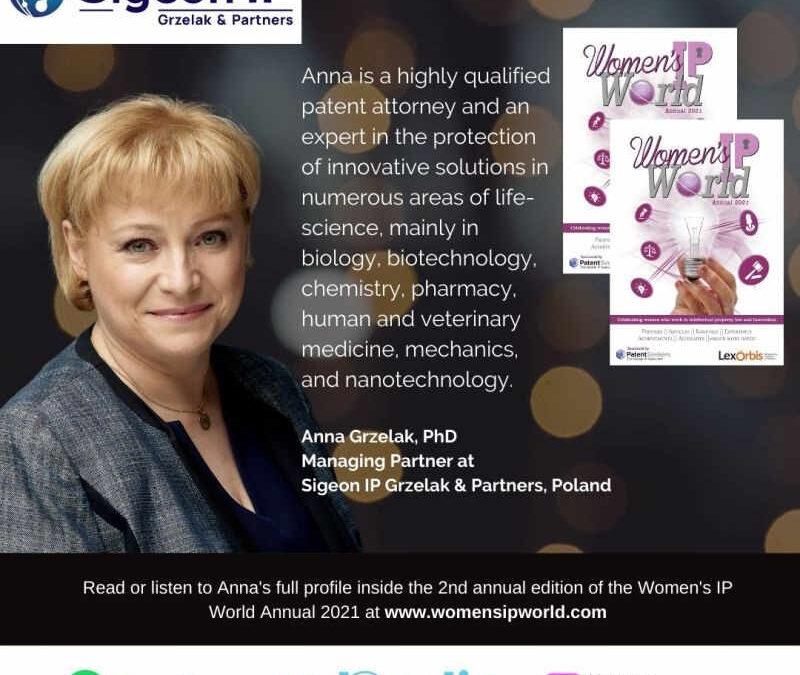 dr Anna Grzelak w Women's IP World 2021