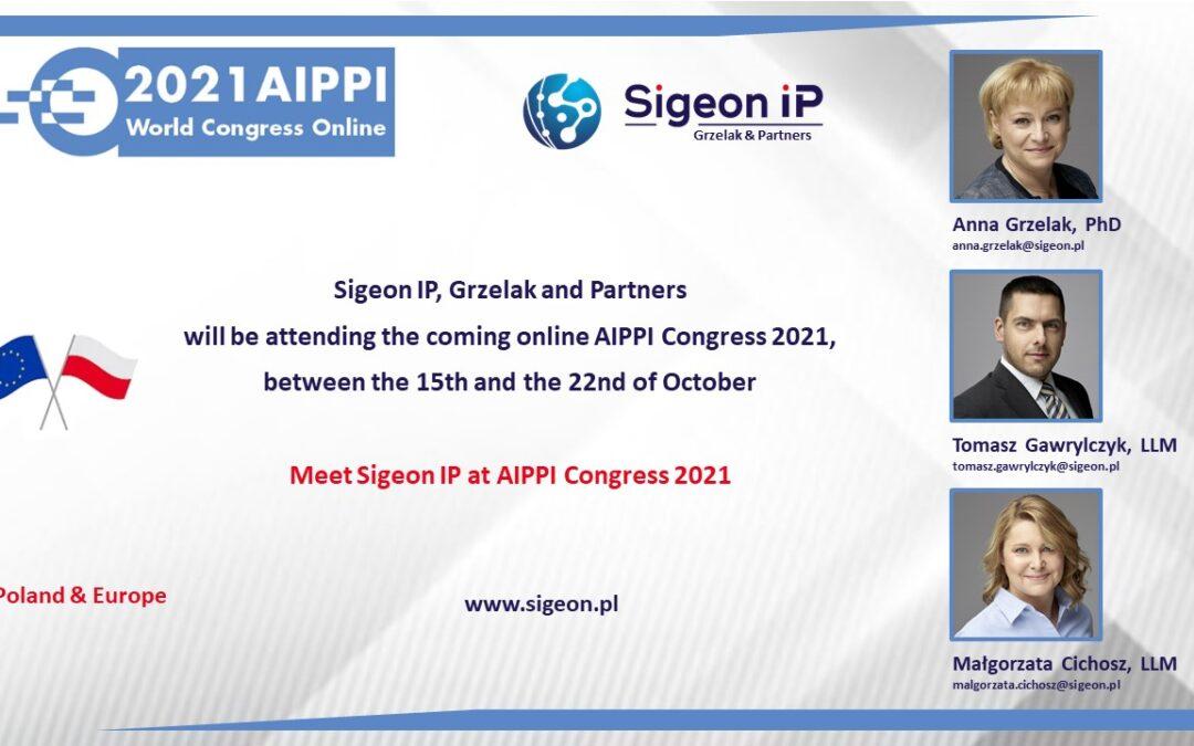 Sigeon IP na konferencji AIPPI 2021